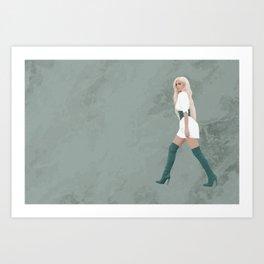 Marble Kylie Art Print
