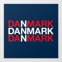 denmark Canvas Prints featuring DENMARK by eyesblau