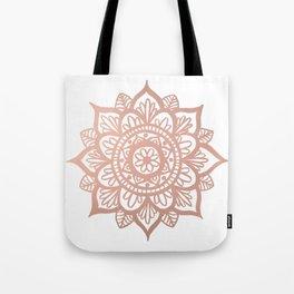 New Rose Gold Mandala Tote Bag
