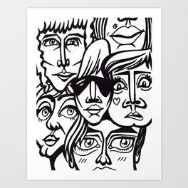 ヽ(゚▽゚*)乂(*゚▽゚)ノ Art Print