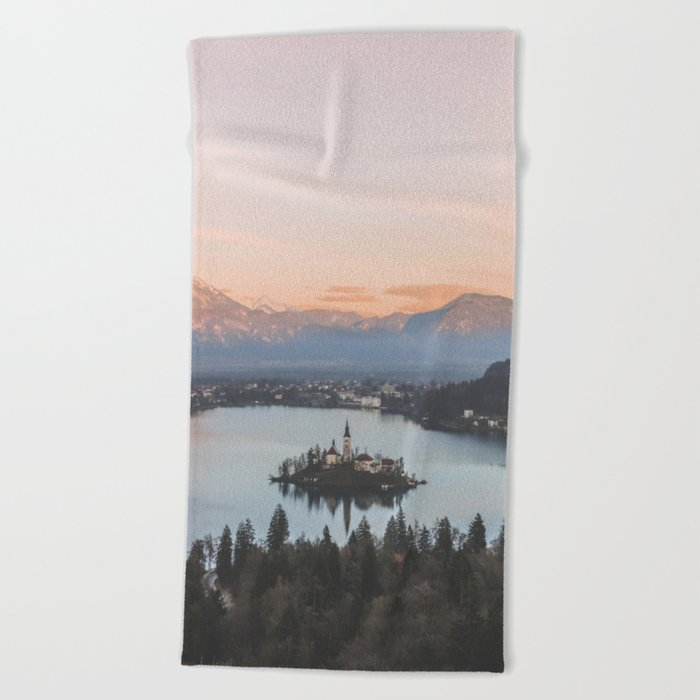 Lake Bled, Slovenia Beach Towel