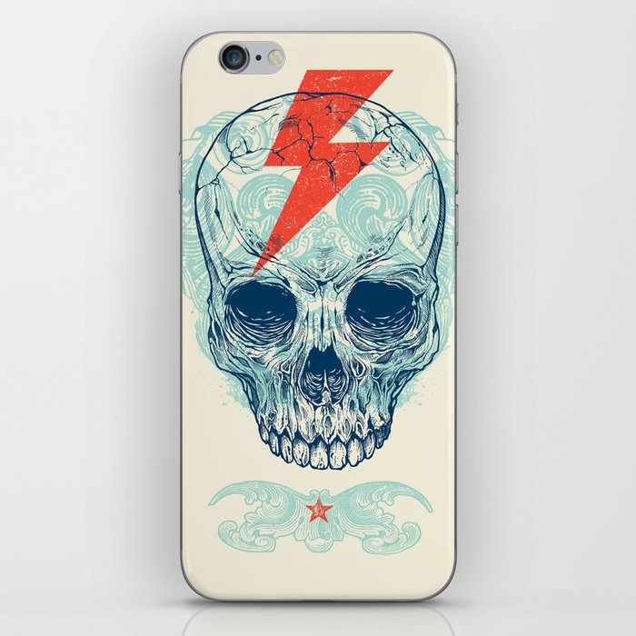 Skull Bolt iPhone Skin