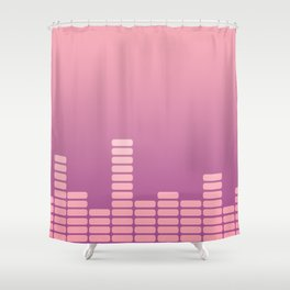 Pink Equalizer Shower Curtain