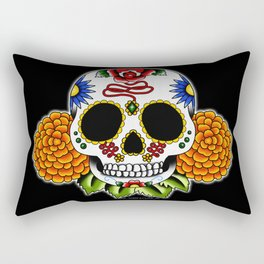 Day of the Dead Flash | Sugar Skull  Rectangular Pillow