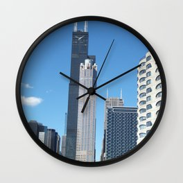 Chicago Historic Skyline Wall Clock