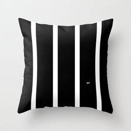 BLACK AND WHITE STRIPES #black #white #stripes #minimal #art #design #kirovair #buyart #decor #home Throw Pillow