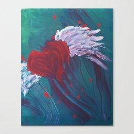 flying heart Canvas Print