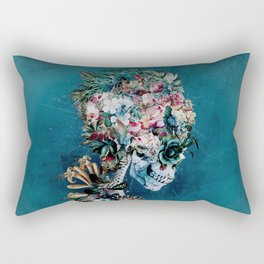 Floral Skull RP Rectangular Pillow