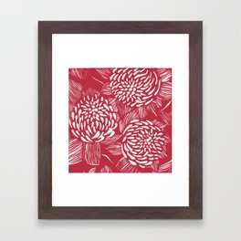 Waratahs Red Framed Art Print
