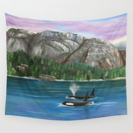 Orcas at the Chief Wall Tapestry