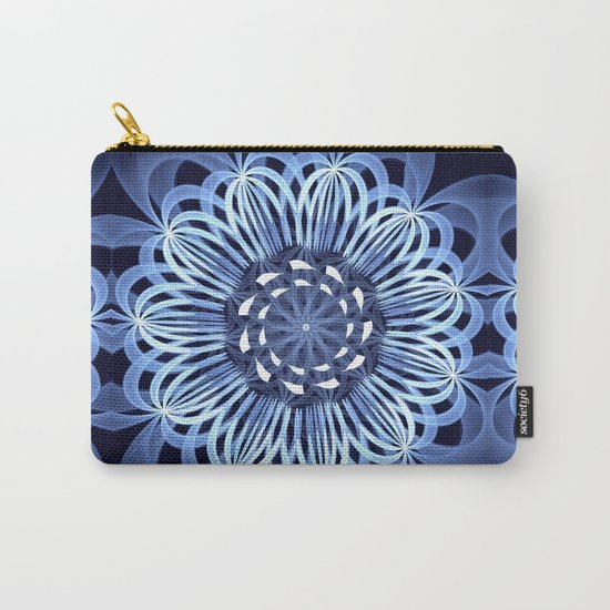 Sky blue fantasy pattern flower Carry-All Pouch