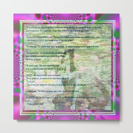 The 3 Wishes. (a post modern fairytale) Metal Print