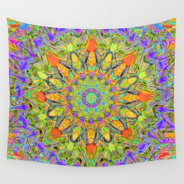 Abstract Flower AAA QQ YYY Wall Tapestry