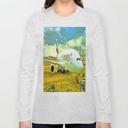 Emirates A380 Airbus Pop Art Long Sleeve T-shirt