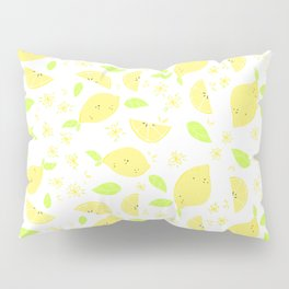 Capri Lemon Slices (white) Pillow Sham