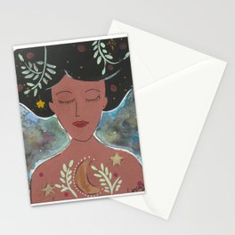 Lunar Woman Stationery Cards