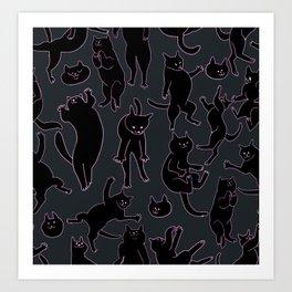 BLACK CATS Art Print