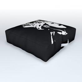 PORTRAIT OF A ROCK MEGA SUPERSTAR Outdoor Floor Cushion