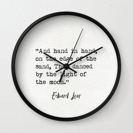 Edward Lear quote Wall Clock