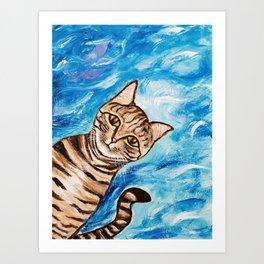 Hello Tabby Art Print