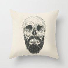 The beard is not dead Throw Pillow