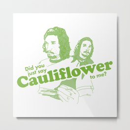 Cauliflower | Green Metal Print