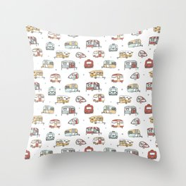 Campers Throw Pillow