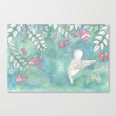 Hummingbird's Garden: In the fuschias Canvas Print