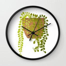 Dischidia Illustration Wall Clock