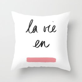 La Vie en Rose x Telma W. Throw Pillow
