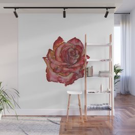 Stained Glass Rose Wall Mural