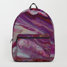 Fluid Nature - Purple Ebb & Flow - Abstract Acrylic Pour Art Backpack