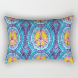 Summer Vibes Tie Dye in Peace Sign Rectangular Pillow