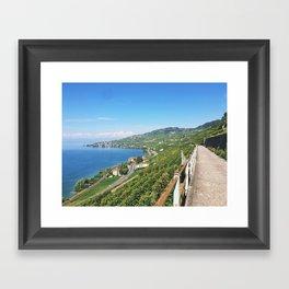 Vineyards of Epesses, Switzerland Framed Art Print