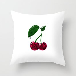 Cerises Throw Pillow
