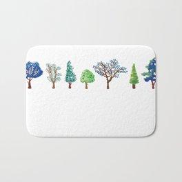 Summer trees Bath Mat