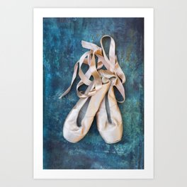 A Pair Of Pointe Shoes Art Print