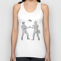 smash bros Tank Tops featuring Old Timey Smash Bros by MikeOB