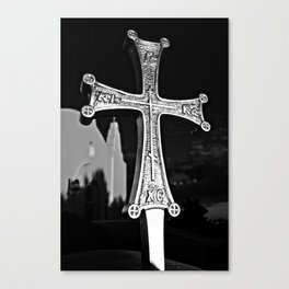 Cross Outside of St. Barbara Greek Orthodox Church, Santa Barbara, CA Canvas Print