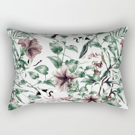 Asian pattern of crane and flowers Rectangular Pillow
