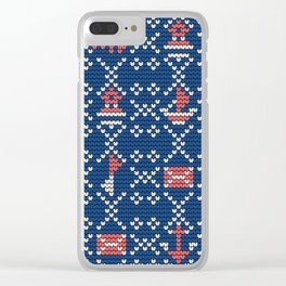 Grandma's knitting pattern for Saylor's Ugly sweater #2 Clear iPhone Case
