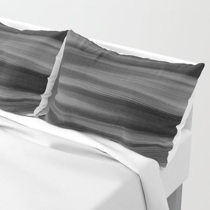 Soft, Dreamy Black White Pillow Sham