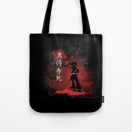 Black Samurai Red Death Tote Bag