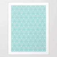 Icosahedron Seafoam Art Print