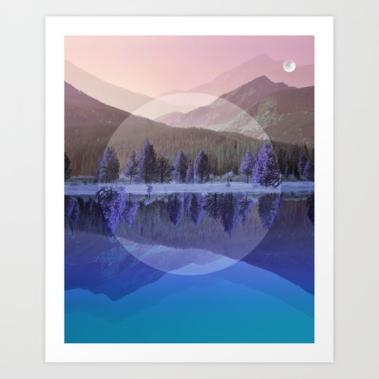 Mountain Mirror #3 Art Print