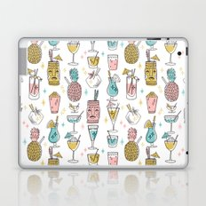 Tropical cocktails summer drinks pineapple tiki bar pattern by andrea lauren Laptop & iPad Skin