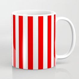 Red and White Candy Cane Vertical - Medium Stripes Coffee Mug