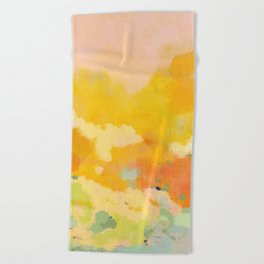 abstract spring sun Beach Towel