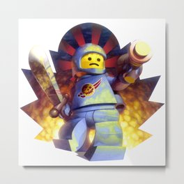 The Deadly Spaceman Metal Print
