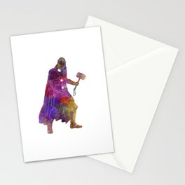Thor 01 in watercolor Stationery Cards